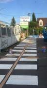 Marquage au sol pour passage piétons - Continu ou temporaire