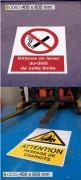 Marquage au sol pour zone de stockage - Marquages en vinyle