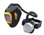 Masque à soudure avec système de ventilation - Réglage du débit d'air