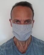 Masque de protection en coton lavable 60° - En coton 3 couches réutilisable et lavable à 60°