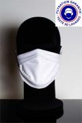 Masque catégorie 1 (blanc ou noir) DGA AFNOR lavable à 60° - Masque de protection tissu catégorie 1 (blanc ou noir) avec 97% de filtration garantie, disponible en blanc, noir, blanc avec logo ou 100% personnalisé.