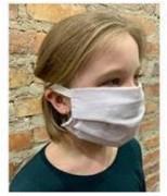 Masque barrière lavable coton et polyester (500) - 50 % coton et 50 % polyester, 360 gr - Lavable 10 fois
