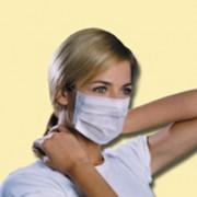 Masque hygiène blanc - Papier blanc - Bords cousus
