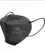 Masque FFP2  noir - Certifié CE EN 149:2001+A1:2009 - Emballage individuel