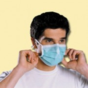 Masque médical hygiène - Masque médical a lacets vert
