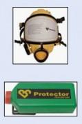 Masque panoramique pour désamiantage - Sa batterie assure un débit d'air constant sur plus de 8 heures.