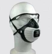 Masque respiratoire et oculaire - Traitement anti-buée et anti-rayures.