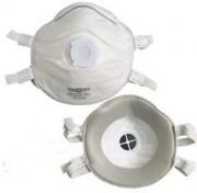 Masque respiratoire FFP3D classique avec valve et dolomie - Protection contre aérosols solides et liquides