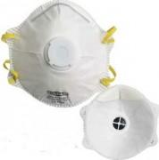 Masque respiratoire filtrant avec valve - Protection contre les aérosols solides et liquides
