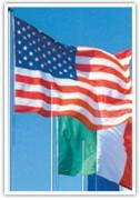 Mât de drapeau officiel - 5 dimensions : 8 m, 9 m, 10 m, 11 m et 12 m.