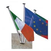 Mât de façade porte drapeau - Longueurs disponibles (m) : 2 et 3