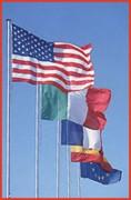 Mât porte drapeau 3 à 7 mètres - Diamètre : 63 cm.Epaisseur : 3 cm.