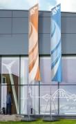 Mât pour drapeau publicitaire 7m ou 9m - Dimensions (Lxh) : 1200 x 6000 mm - 1200 x 7500 mm