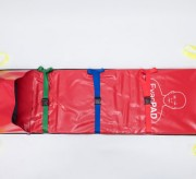 Matelas d'évacuation pour personnes handicapées - Civière compacte et flexible avec coussin en mousse