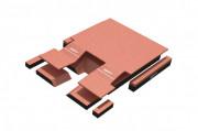 Matelas de réception modulaire saut perche compétition 5.50 x 5.00 m - Dimensions : de 5m50 x 5m00 x 0m70 à 7m50 x 5m50 x 0m80
