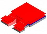 Matelas de réception semi modulaire saut perche - Matière : Mousse - Certifié IAAF