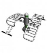 Matériel de musculation abdominaux à transat - Dimension : 1 300 X 1 130 X 625 mm
