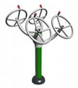 Matériel de musculation épaules à volant - Dimension : 1 310 X 1 060 X 1 410 mm