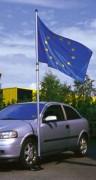 Mâts télescopiques avec pied autocal - Porte drapeaux