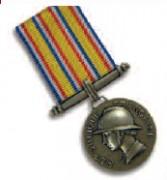Médailles sapeur-pompiers - Médaille d'Argent - argent doré