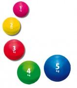Médecine ball lesté - Poids disponibles (Kg) : 1 - 2 - 3 - 4 - 5