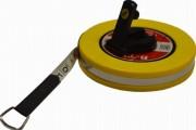 Mètre à ruban athlétisme à poignée - Matière ruban : Fibre de verre - 5 longueurs disponibles