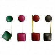 Mètre enrouleur en cuir - Rond ou carré gainés de cuir