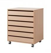 Meuble à dessin 6 tiroirs - Sur patins ou sur roulettes