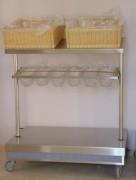 Meuble à pain plateaux et couverts - Capacité : 150 couverts/bac - 150 pain/bac
