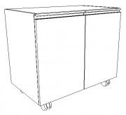 Meuble à porte de laboratoire - 1 ou 2 portes