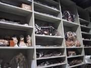 Meuble à tiroirs en Profiltol - Rayonnage fixe musée