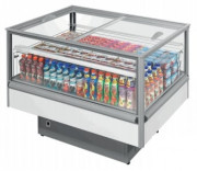 Bac réfrigéré libre service - Capacité : de 199 à 423 L - Température : -18° / -25° et 0°/ +10° C - Couvercle vitré coulissant