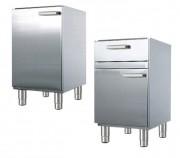 Meuble bas de cuisine en inox - Dimensions (L x l x H) mm :450 x 860 x 605 - Charge totale admise: 75 kg