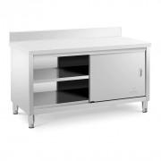 Meuble bas inox portes coulissantes - Placard neutre inox 800 x 600
