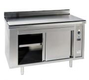 Meuble chauffe assiettes - En inox AISI 304L - Puissance : 2 kW  -Hauteur : 900 mm