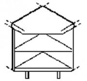 Meuble d'angle pour self service - 90 ° - Dimensions : (L x P x H) 820 cm x 820 cm x 870 cm