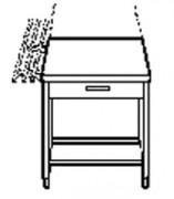 Meuble de caisse - Dimensions : (L x P x H) 500 cm x 820 cm x 870 cm