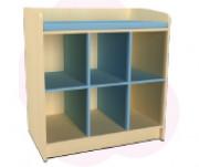 Meuble de déshabillage 6 casiers - Avec ou sans porte