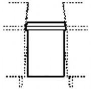 Meuble de jonction pour self - Dimensions : (L x P x H) 900 cm x 120 cm x 720 cm