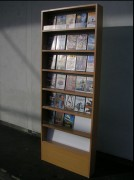 Meuble de présentation CD - DVD - En mélaminé hêtre 15x78x200cm
