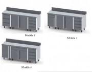 Meuble de rangement composé - Dimensions (L x l x H) mm 2000 x 700 x 900