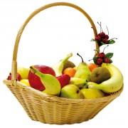 Meuble en osier pour fruits et légumes