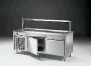 Meuble froid de restaurant self service 2 portes - 2 portes - 0.37 kW de puissance électrique