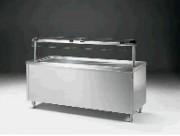 Meuble froid de self service en inox - 0.37 kW de puissance électrique