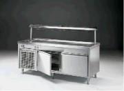 Meuble froid pour self-service à 2 portes - 2 portes - 0.37 kW de puissance électrique