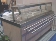 Meuble inox bain marie self service 3 à 6 bacs - Capacité : 3 à 6 bacs GN 1/1
