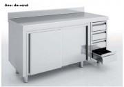 Meuble neutre avec portes et tiroirs - Dimension : Jusqu'à 2400 x 700 x 850 mm
