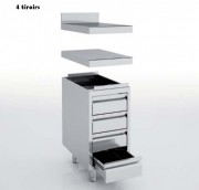 Meuble neutre avec tiroirs - Dimensions : Jusqu'à 1600 x 700 x 600 mm
