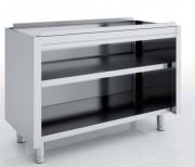 Meuble neutre inox sans dessus - Dimensions : Jusqu'à 2400 x 700 x 850 mm