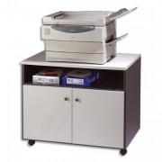 Meuble photocopieur 2 portes+tablette et niche coloris gris - Simmob